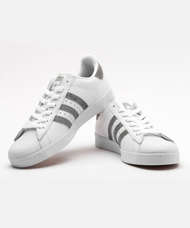 Adidas Men's Superstar Vulc A White/Black/ Skate Shoe Free