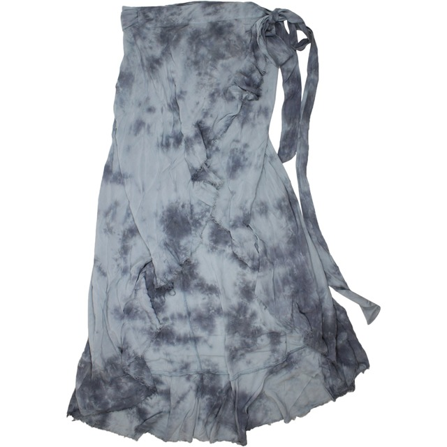 Blue Life Aura Wrap Skirt Sage Grey