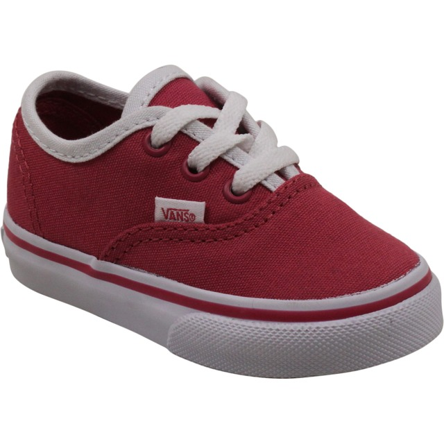 Vans Authentic Sneakers (Pop Binding) Claret Red/True White