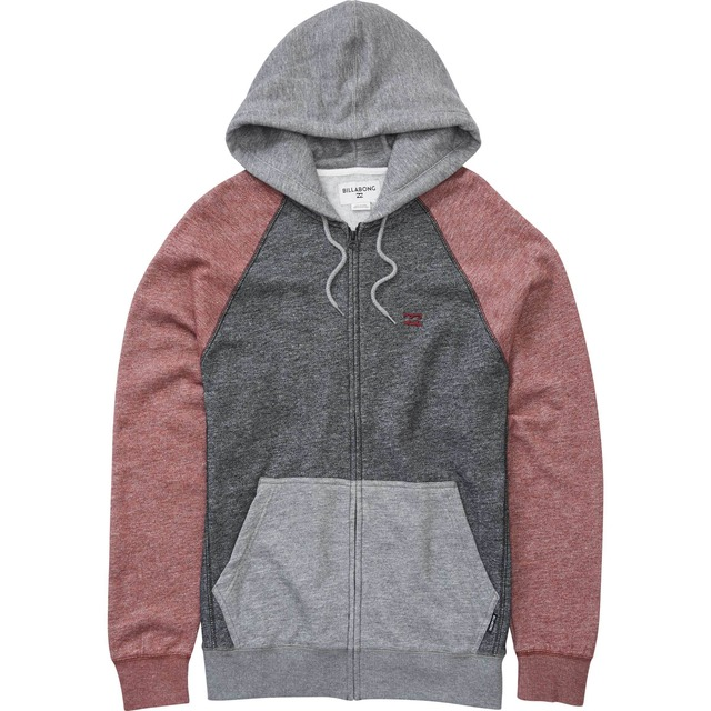 BIllabong Balance Zip Up Fig Heather
