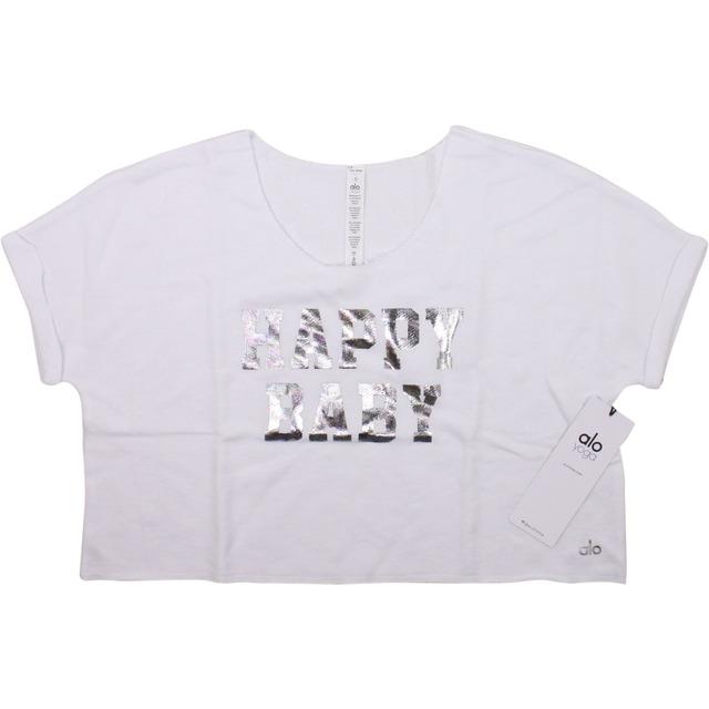 Alo Yoga Bean 2 Top White/ Happy Baby Foil