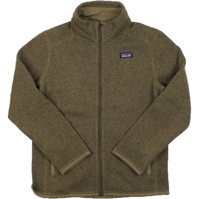 Boys Better Sweater Full Zip - Ash Tan
