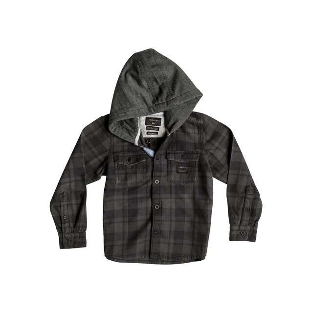 Boy's Snap Up Flannel - Snap Up Tarmac