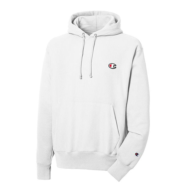 Champion Reverse Weave Hooded White