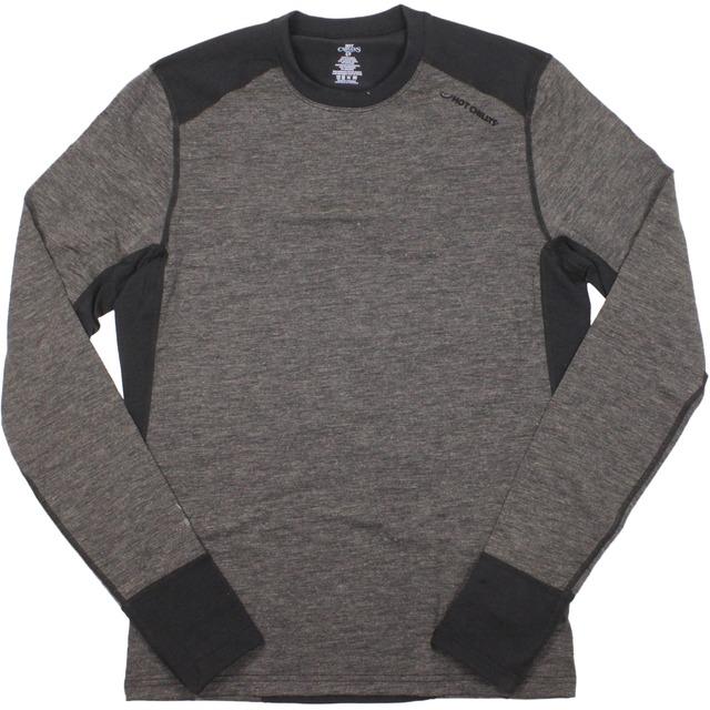 Hot Chillys F8 Meino Wool Crewneck Black/Black