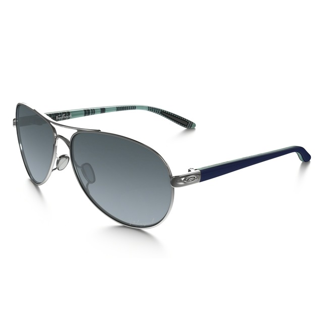 Oakley Feedback Polished Chrome/ Grey Gradient Polarized