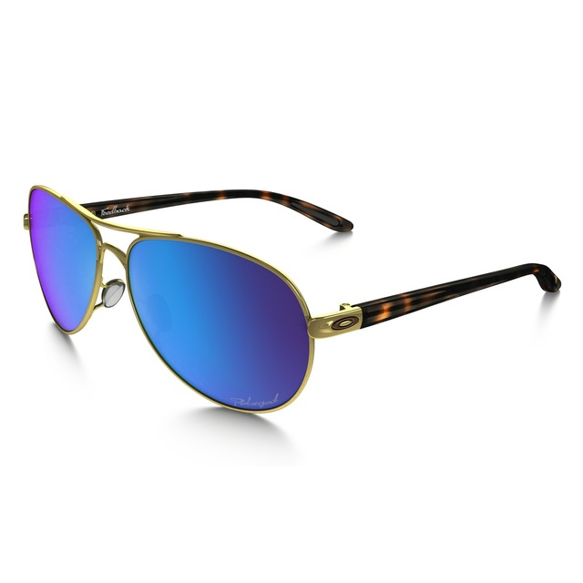 Oakley Feedback Polished Gold/ Saphire Iridium Polarized