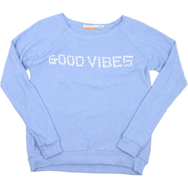 Vintage Havana Good Vibes Sublimation Hacci Pullover Blue