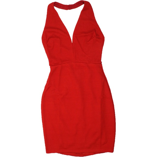 Lush Halter Neck Bodycon Red