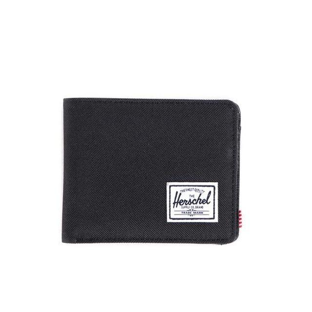 Herschel Hank+ Coin Black/Black Synthetic Leather
