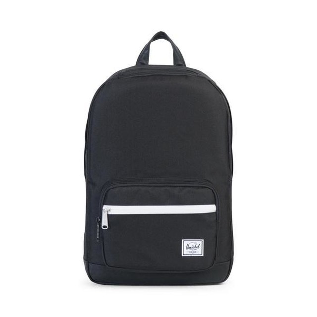 Herschel Pop Quiz Mid Volume Black/Black Synthetic Leather