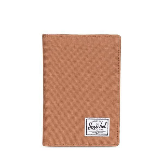 Herschel Raynor Passport Holder Caramel