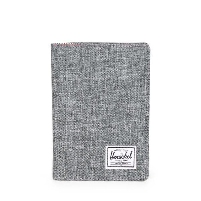 Herschel Raynor Passport Holder Raven Crosshatch