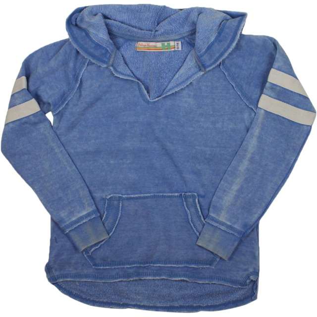 Vintage Havana Hoody with Striped Sleeve True Blue