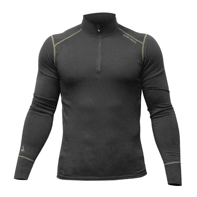 F8 Merino Wool Zip-T - Black/Black