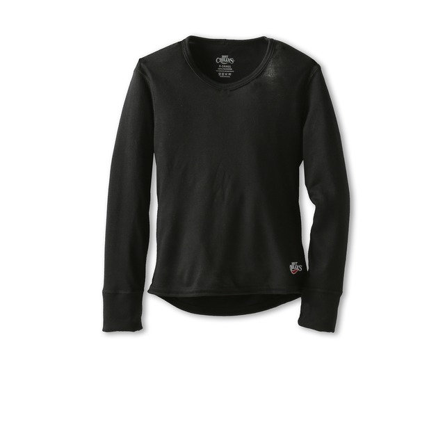 Hot Chillys Youth Midweight Crewneck Black