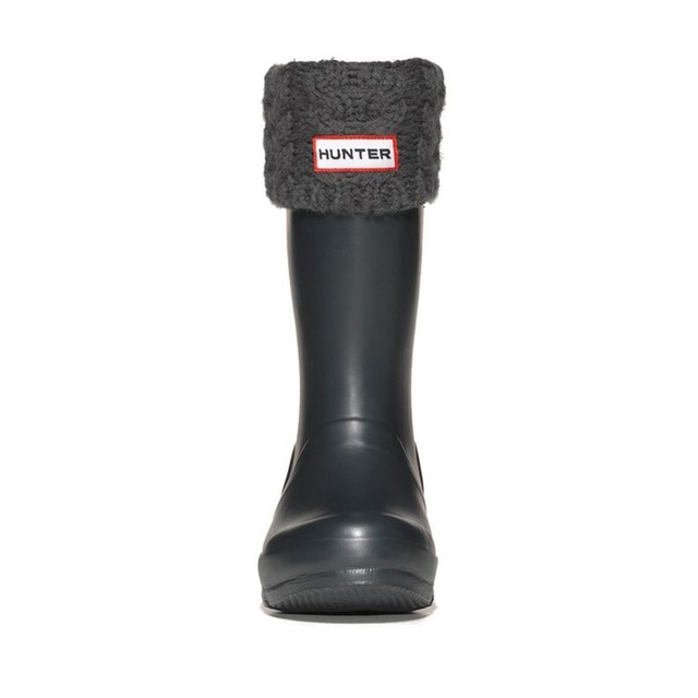 Hunter Cable Cuff Welly Charcoal