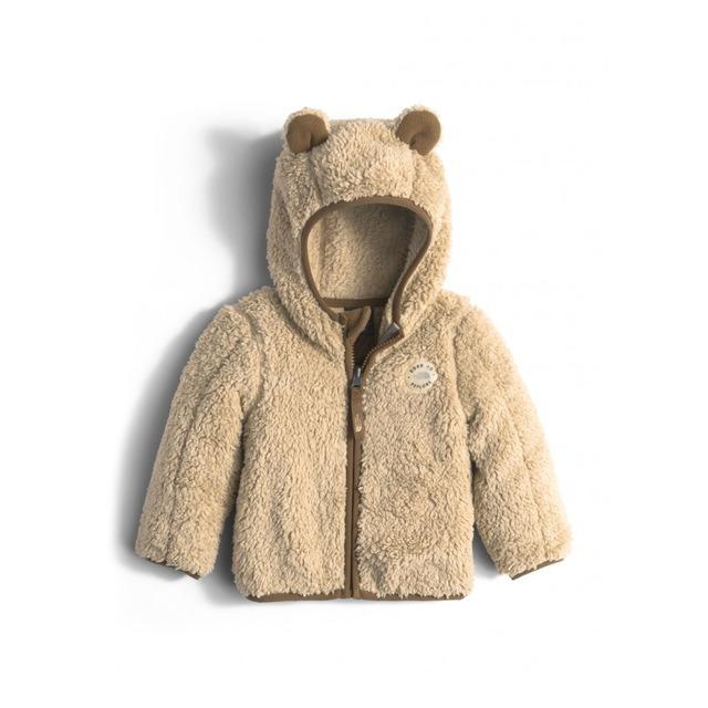 Infant Plushee Bear Hoodie Sweatshirt - Pale Khaki