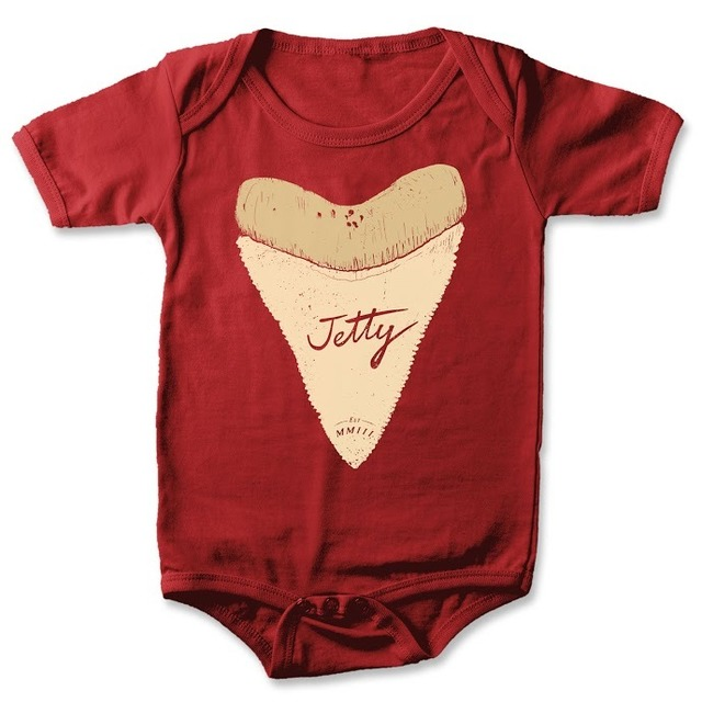 Jetty Life Mini Big Tooth Onesie Red