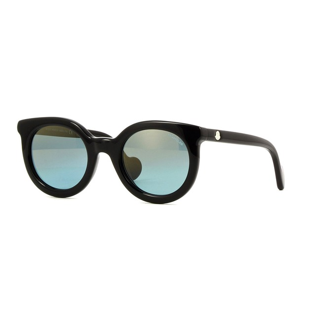 Moncler ML0015 Shiny Black/ Blue