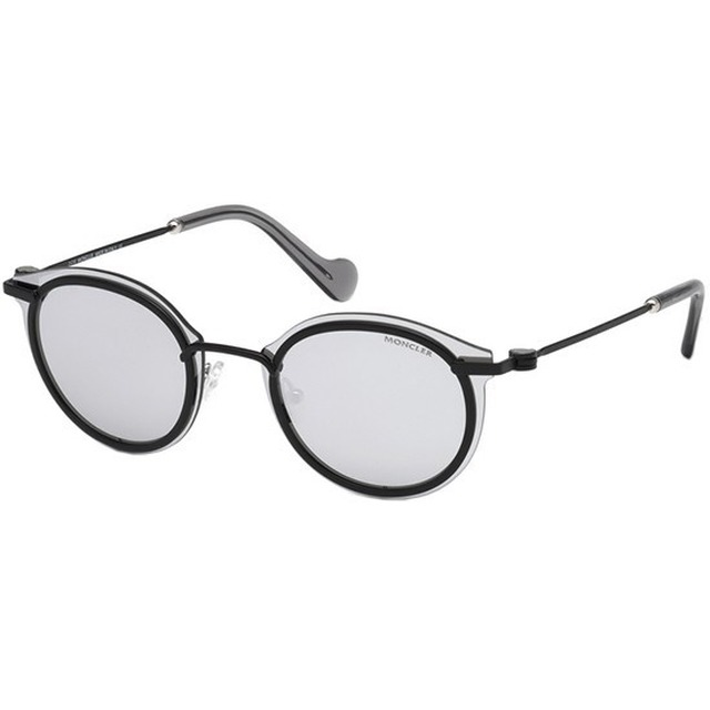 Moncler ML0018 Matte Black/ Smoke Mirror