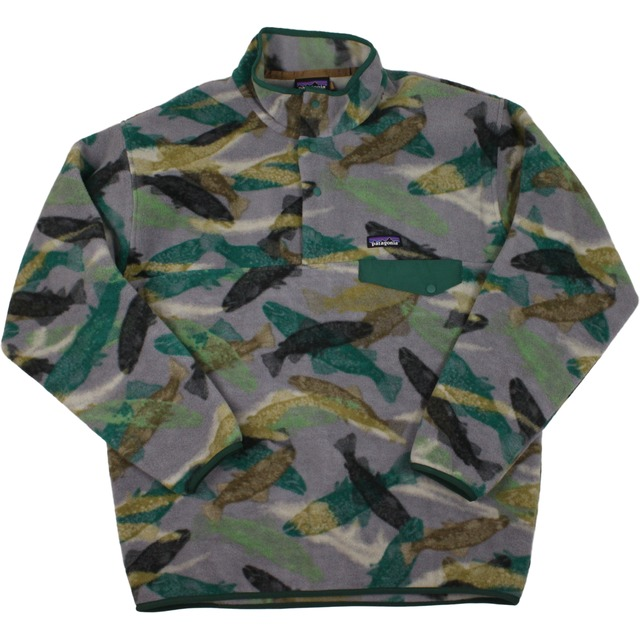 Patagonia M's Synch Snap  Trout Tails: Legends Green