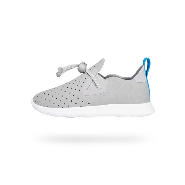 Native Footwear  Apollo Moc Slip On Pigeon Grey/Shell White