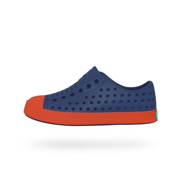 Native Slip On Jefferson Child Regatta Blue/La Flame Orange