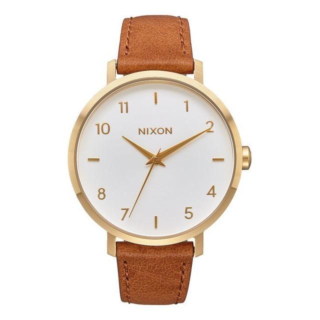 Nixon Arrow Leather Gold/ White/ Saddle