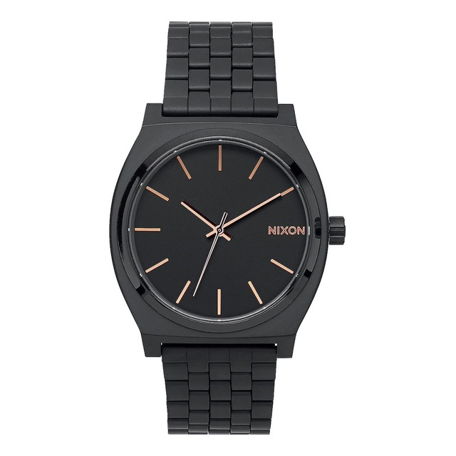 Nixon Time Teller All Black/ Rose Gold