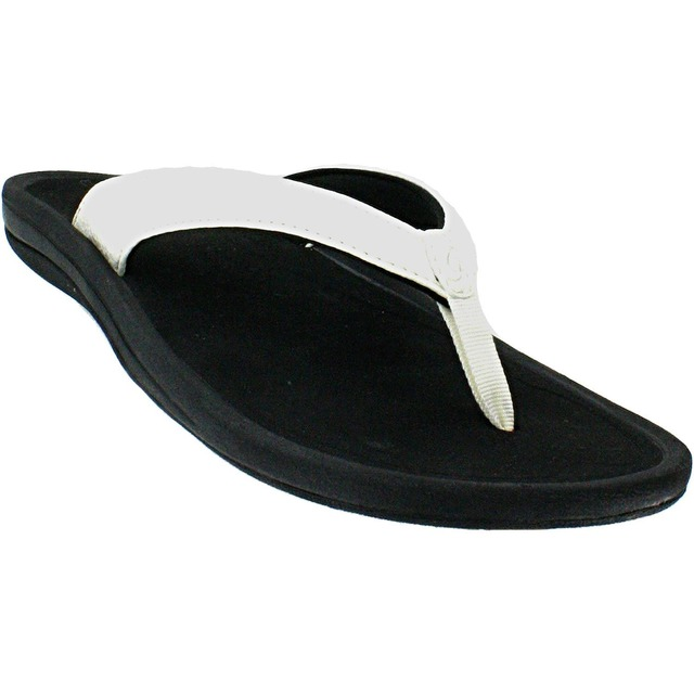 Olukai Womens Kulapa Kai White/Black