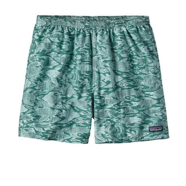 Patagonia M Baggies Sketchy Fish: Gem Green