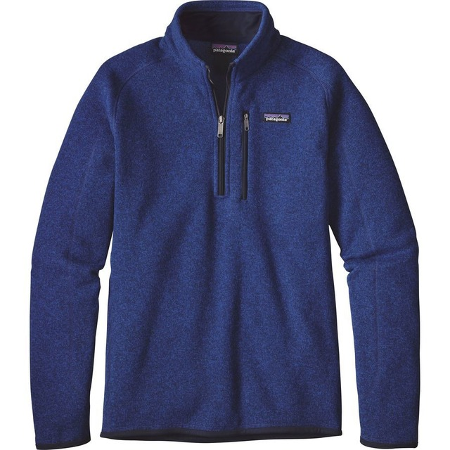 M's Better Sweater 1/4 Zip - Harvest Moon Blue