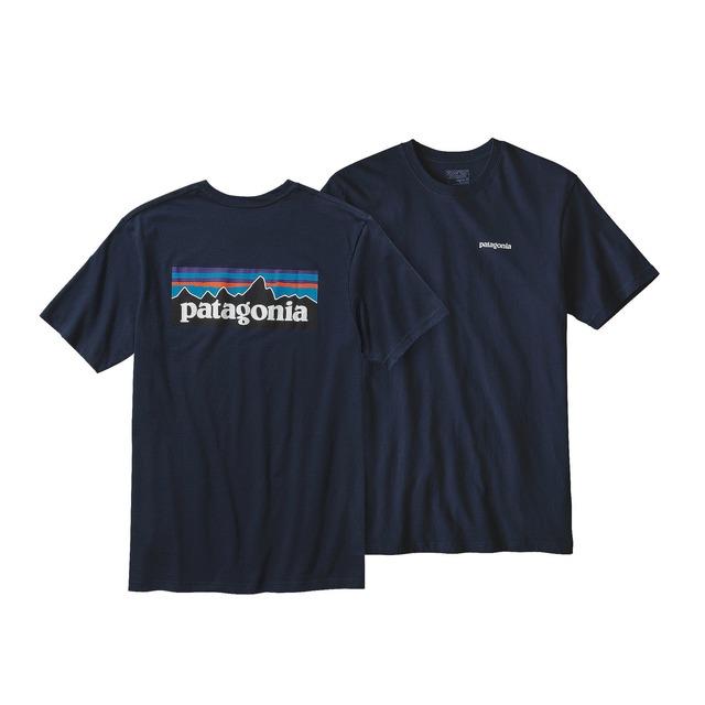 Patagonia P-6 Logo Cotton Navy Blue