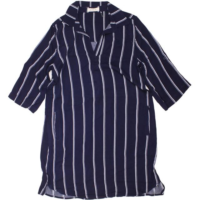 Elan Pocket Navy White Stripe