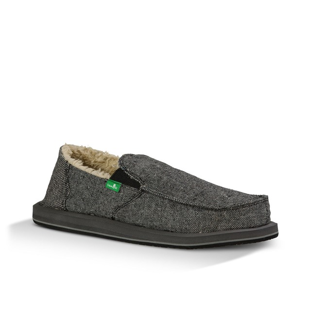 Sanuk M Vagabond Chill Charcoal Wool Fleck