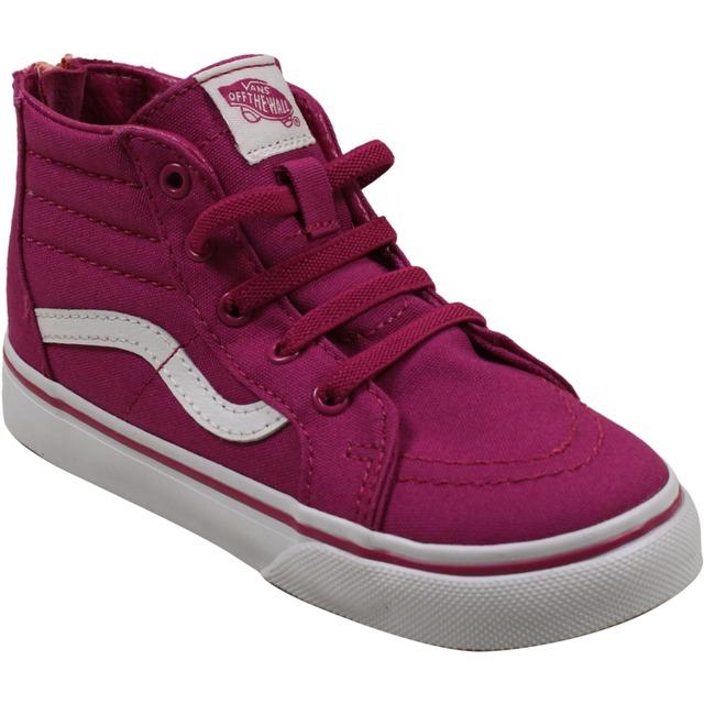 Sk8-Hi Zip Sneakers - (Canvas) Lilac Rose/ Burnt Coral