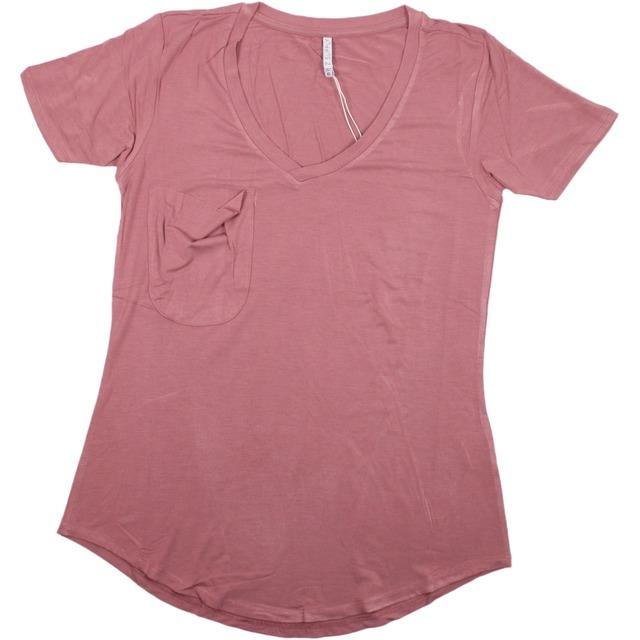 Z Supply Sleek Jersey Pocket Blossom Rose