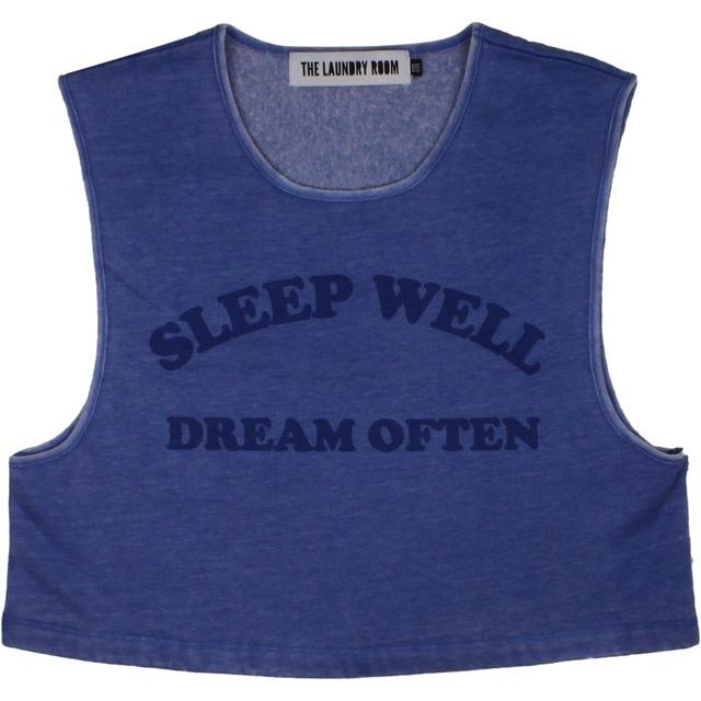 Sleep Well Dream Often Crop - Deep Blue