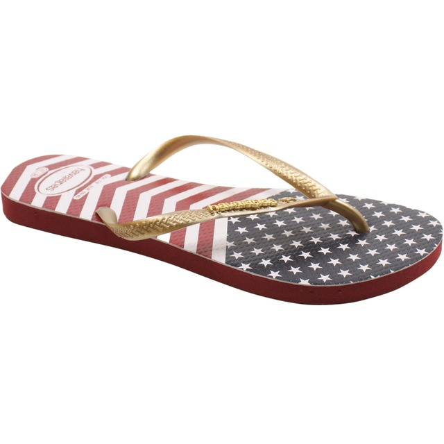 Havaianas Slim Chevron Stars and Stripes Sand