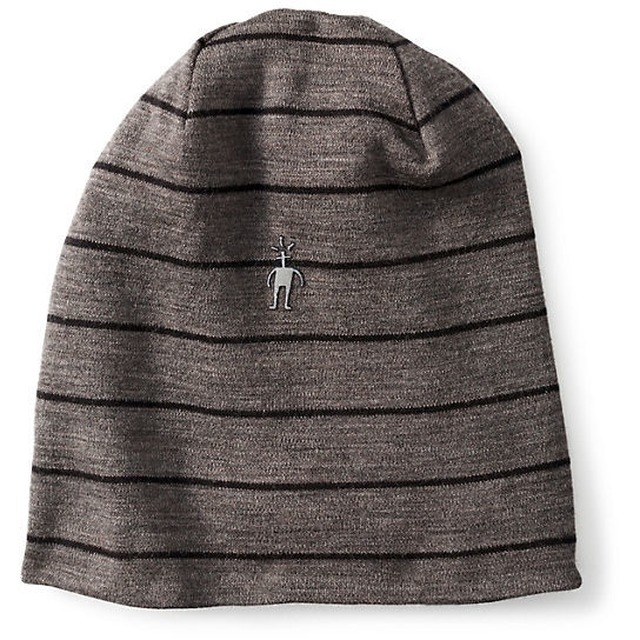 Smartwool NTS Mid 250 Reversible Pattern Cuffed Beanie Back/Taupe