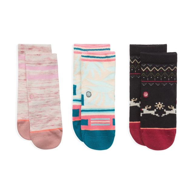 Sleigh Ride Box Sock Set - Multi