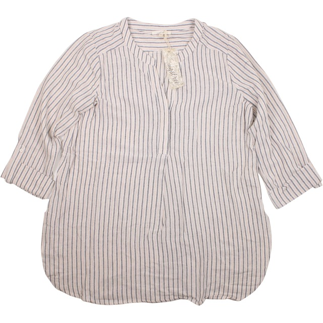 Mystree Striped Tunic Natural/ Denim