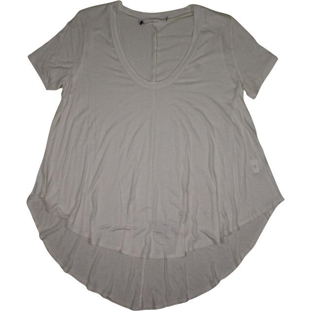 Swing Hi Low Short Sleeve Top - Off White