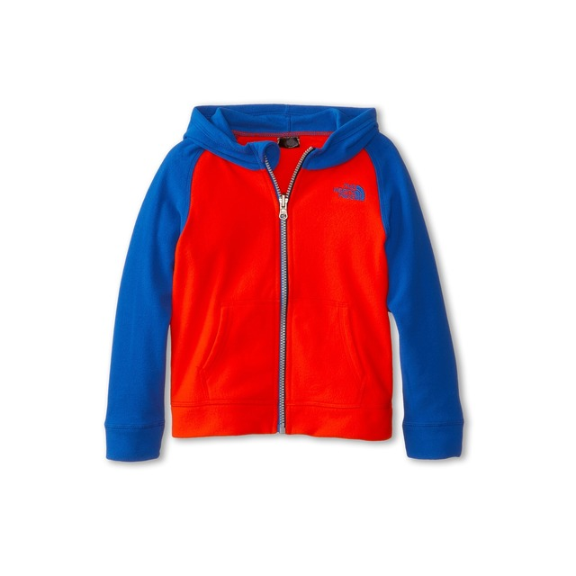 B Glacier Full Zip Hoodie - FIery Red/ Monster Blue