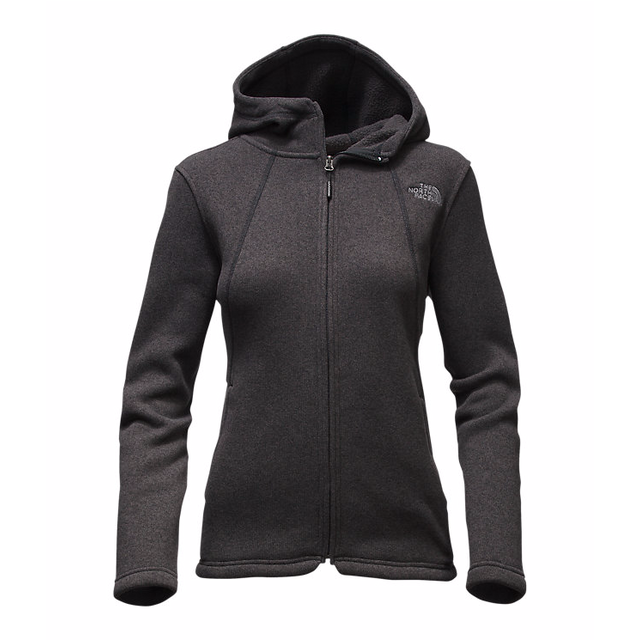 The North Face W Crescent Full Zip  Black Heather