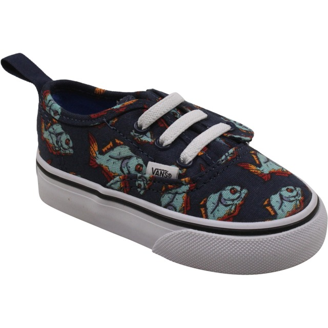 Vans Toddler Authentic V Lace (Piranha) Dress Blues/True White