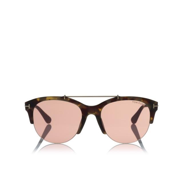Tom Ford Adrenne Havana/ Pink Mirror