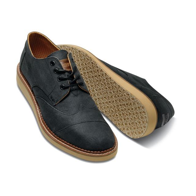Toms Shoes Brogue Ash Aviator Twill
