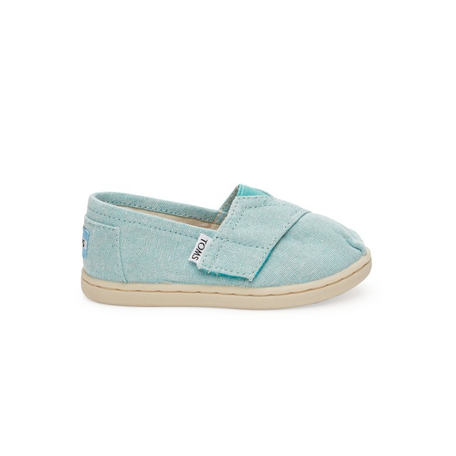 Toms Classic Slip-On Aqua Chambray
